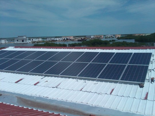 Solar panels installed on office complex