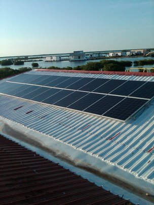 Solar panels installed on office complex(3)