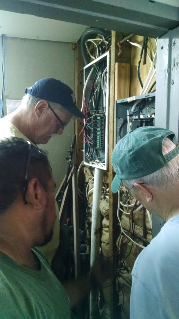Reviewing wiring at the main breaker