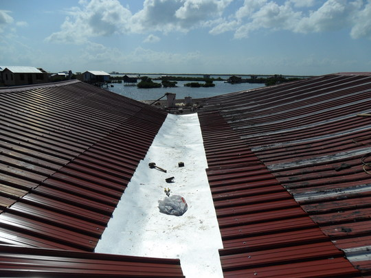 installing proper drainage on roof