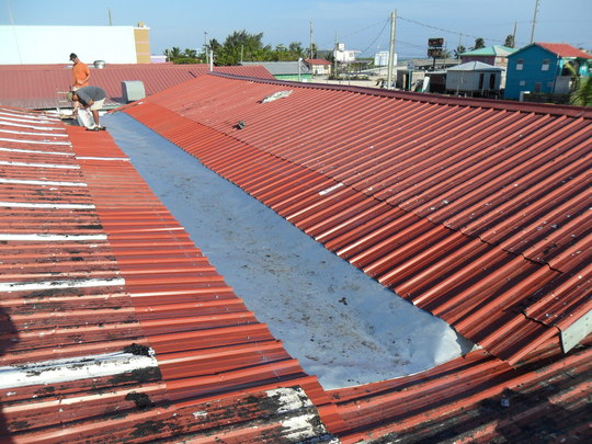 roofing section ready for solar panel install