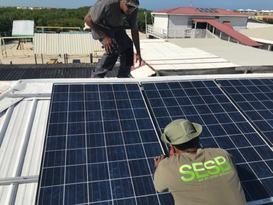 SESB technicians installing System 3
