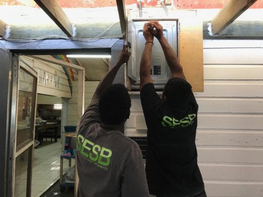 SESB repairmen at work