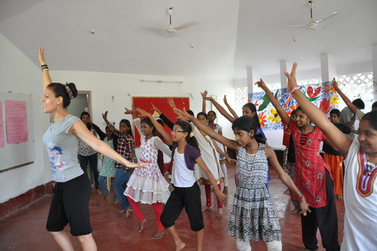Young People Learning a Spanish Dance Form @ Camp