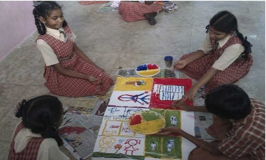 Snapshot from Gowri's Creative Arts session