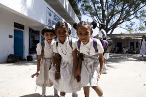 Young girls in Life Skills Programs with Schools