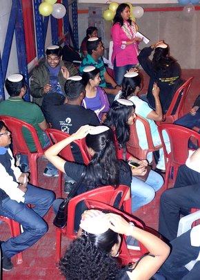 Volunteers bonding through celebration