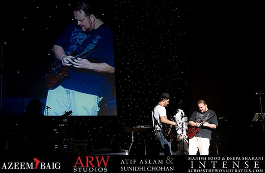 Atif and Todd Onstage