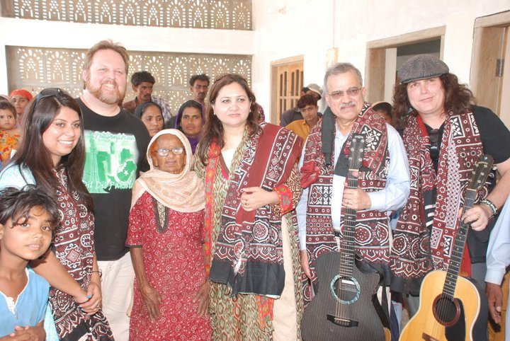 Todd and Lanny with NCHD Bringing Music to Sindh
