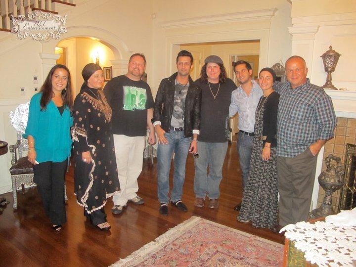 Todd, Atif & Lanny with the Alfi Family