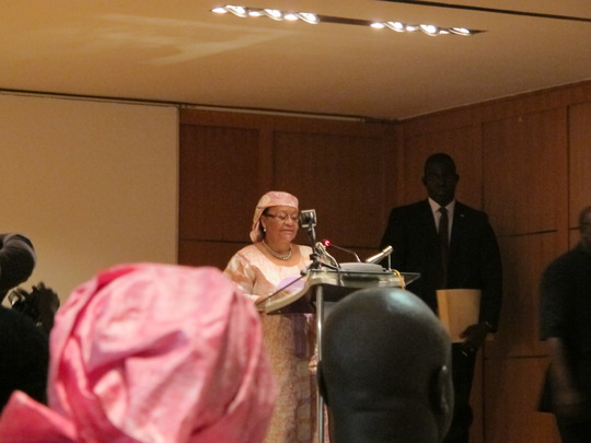 Mali's first lady speaks at Nat'l MTCTP launch