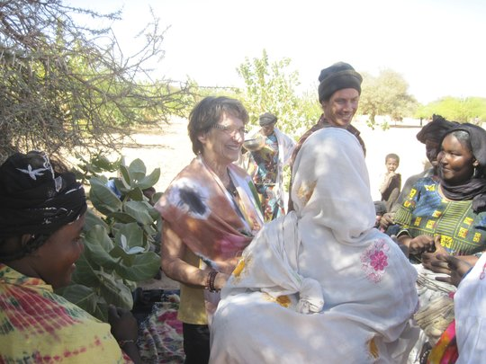 Bess and Brian talk with the women of Gougaram