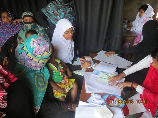 Mothers Registering for Antenatal Care Services