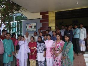 Hospital staff and nursing students