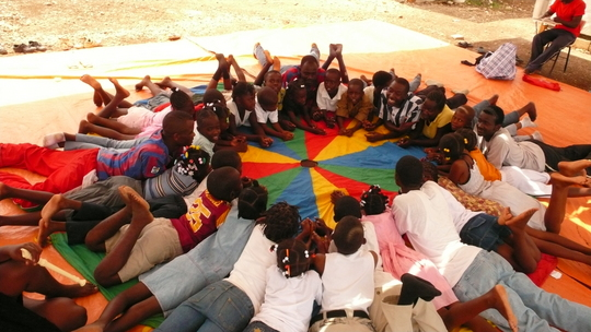 Child-friendly space at SINEAS IDP Camp