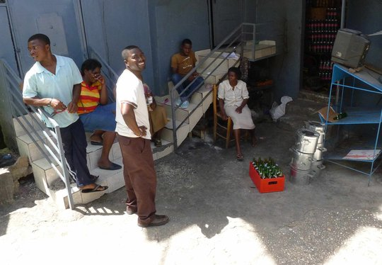 Vendors sell ZPB cookstoves around the city