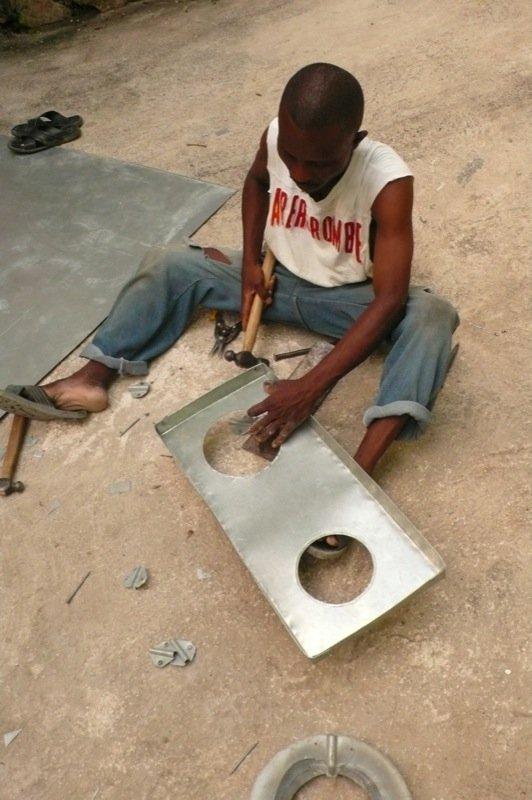 Building the 2-burner Zanmi Pye Bwa