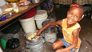 Cooking on the ZPB clean cookstoves