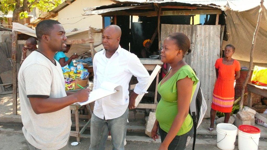 Haiti Program Manager Jean Maire Gabriel (left)