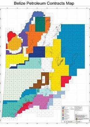 Petroleum concession map of Belize