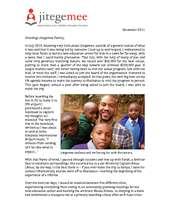 Jitegemee December 2011 Donor Update Letter (PDF)