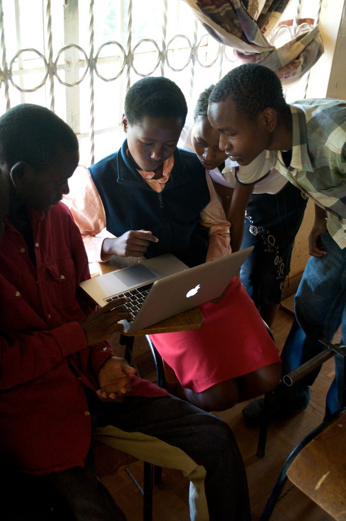 At Jitegemee we strive to expose students to new technology.  In order to help kids sustain themselves in a connected era, we need to provide skills that allow them to connect and build across the world.  In our new school we will have a computer cluster for students to learn these skills.