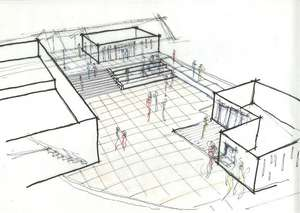 Future Sustainable Building Sketch