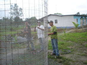 Building the structure for the rain water tank
