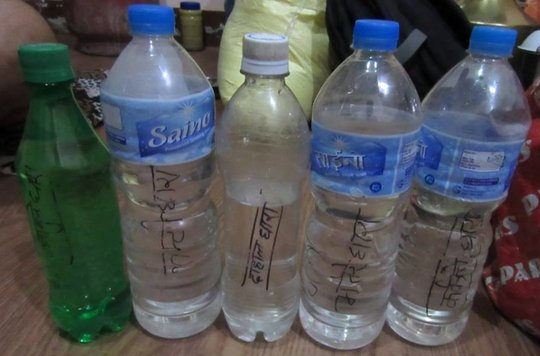 Collected water samples