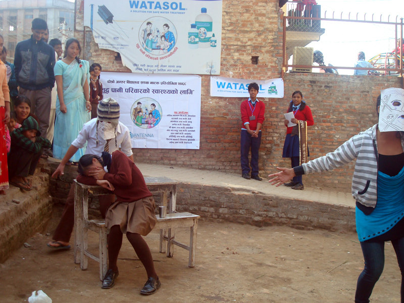 Act play performed by the students