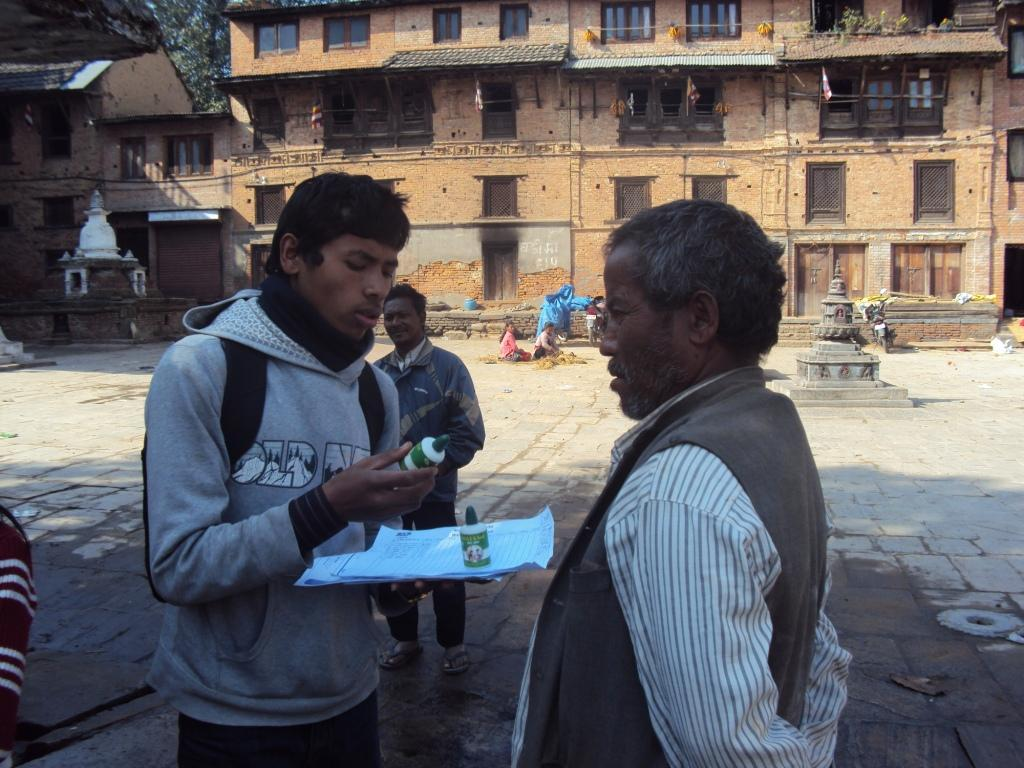 Students campaigning in the community