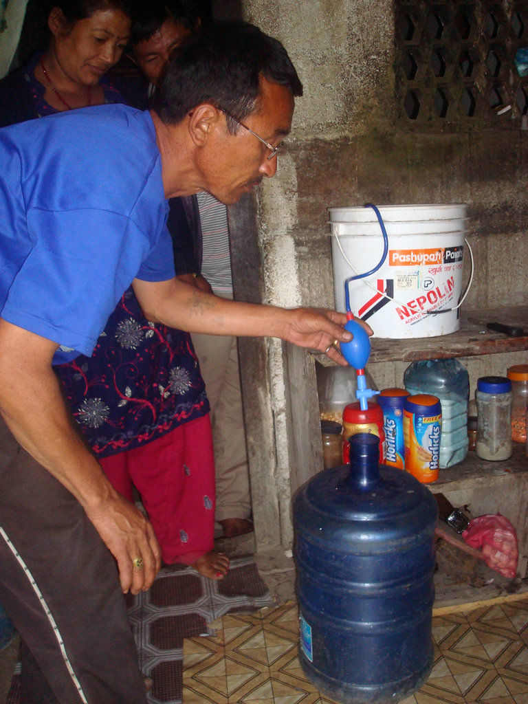 Using TULIP filter to access safe drinking water