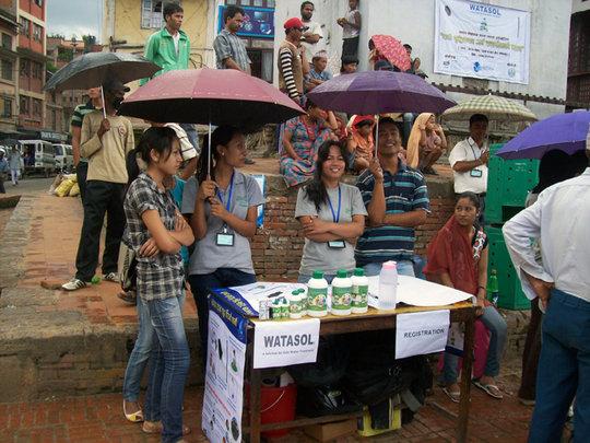 WATASOL Promotion through stall in local community