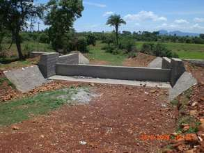 Recently constructed check dam to recharge water