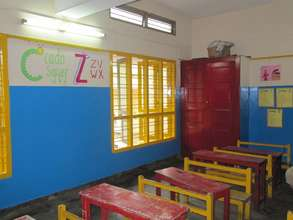 Bright and colourful classrooms