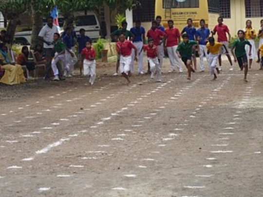 Auxilium Sports day race