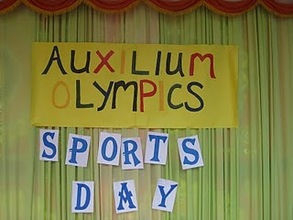 Auxilium Sports day sign