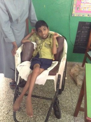 Nikhil in his old chair