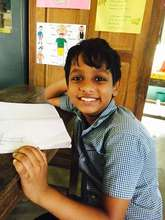 One of our students at Thamaraparambu School