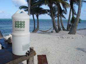 The filter on the beaches of Mahahual