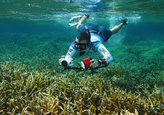 CORAL staff documenting the beautiful reefs