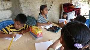children's Mixteco literacy class
