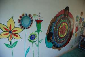 Art work done by the women/girls.