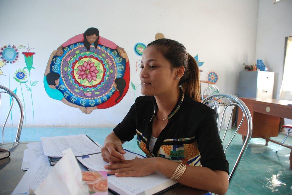 Phallis, a counselor at the Reintegration Program