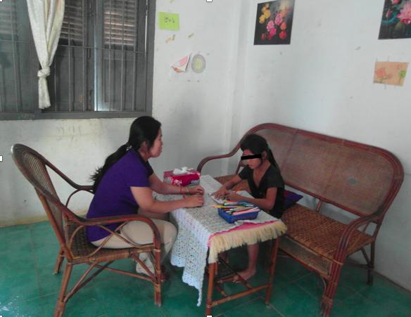 Chakrya with a counselor