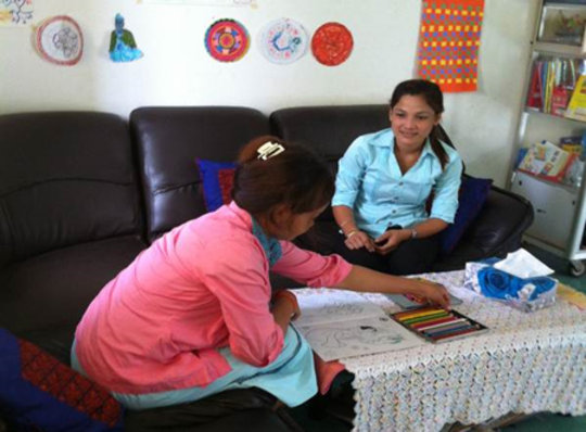 One-on-one counseling helps survivors to heal.