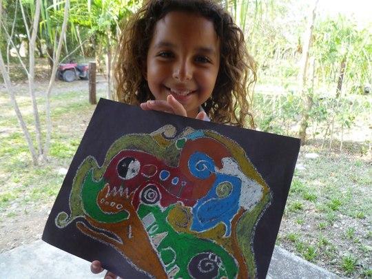 A proud artist!