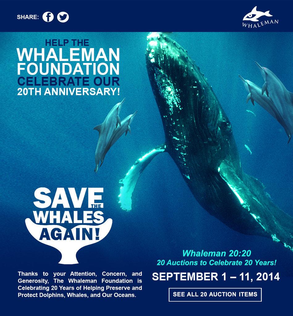 Whaleman 20th Anniversary eBay Charity Auction