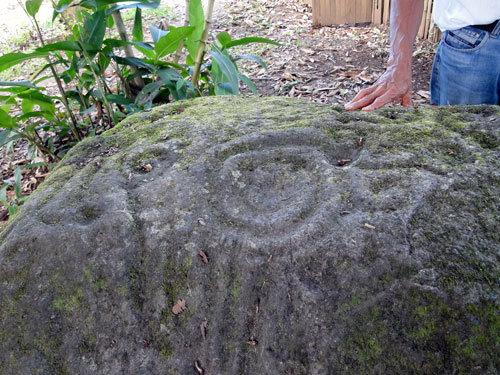 Spiral petroglyph behind rancho Maleku