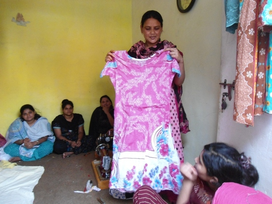 ..... trained in sewing from Unit No. 5, Latifabad